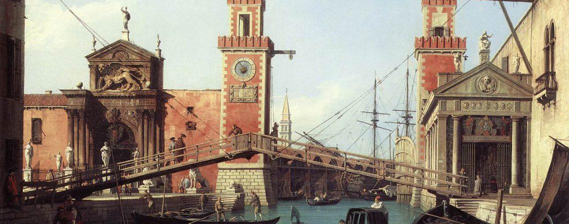 Tableau l'Arsenal de Venise