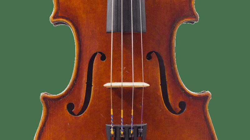 """Le chevalet du violon est positionné entre les """"dards"""" de chaque ouïes."""