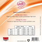Cordes Corelli New Crystal en tension forte avec tableau de tensions