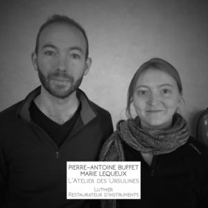 Marie Lequeux et Pierre-Atoine Buffet de l'Atelier des Ursulines.