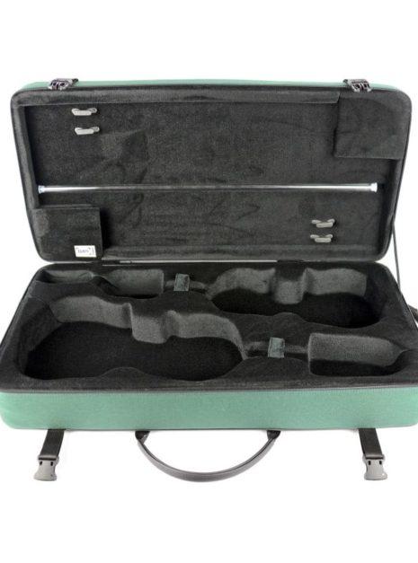 Intérieur d'un étui bam classic double pour violon et alto