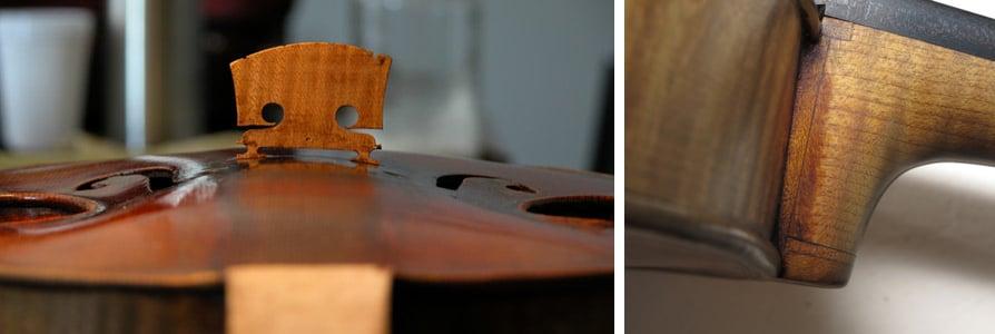 Faire parler le Canon - Le chevalet joué et l'élongation du manche de Paganini.