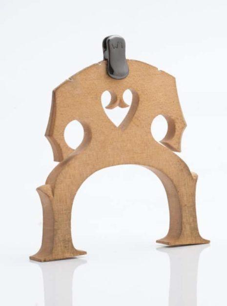 La sourdine d'orchestre WMutes pour violoncelle noire installée sur le chevalet