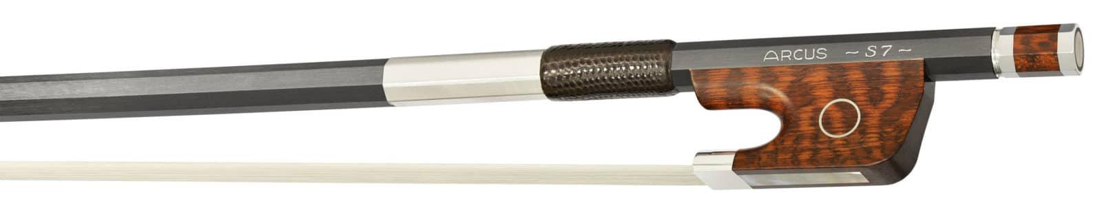 La hausse et la garniture d'un archet S7