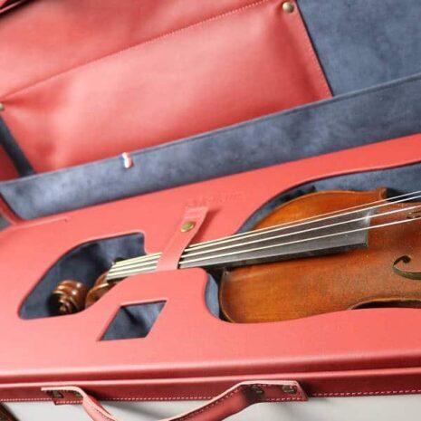 Étui l'Hélium fabriqué en Alsace violon carre