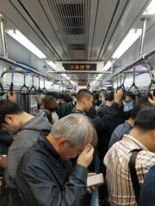 Dans le metro, une expérience à partDans le metro, une expérience à part