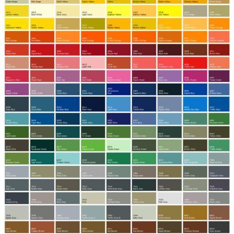Palette de couleurs Bogaro et Clemente