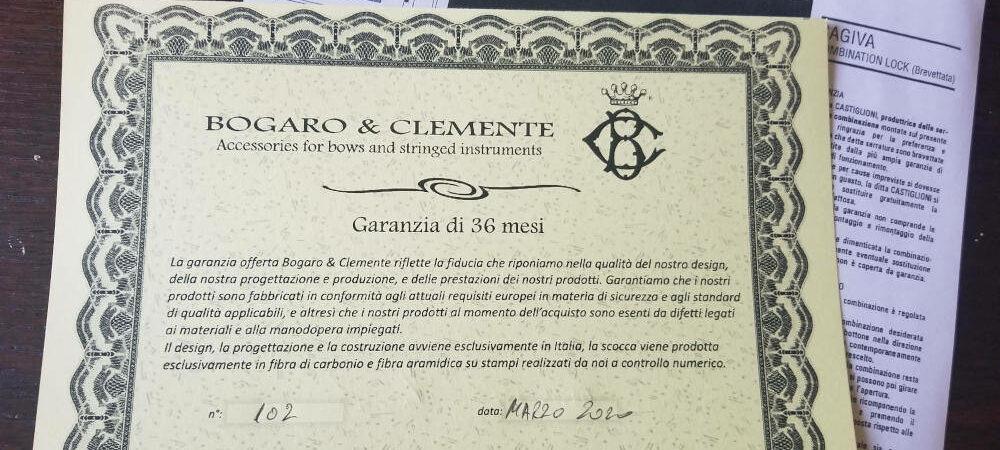 Certificat et notice