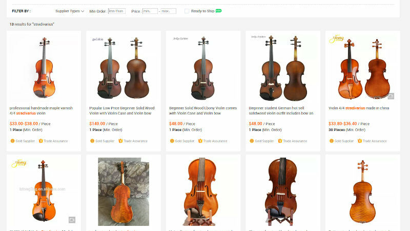 Les Stradivarius les moins chers sur Alibaba