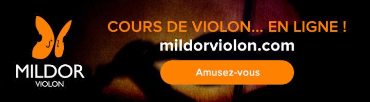 Apprendre le violon en ligne avec Mildor