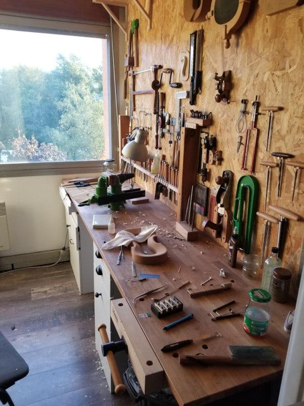 Mes anciens établis de luthier à l'Hôtel des Forges (un deuxième)