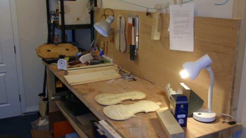 Mes anciens établis de luthier à Newark